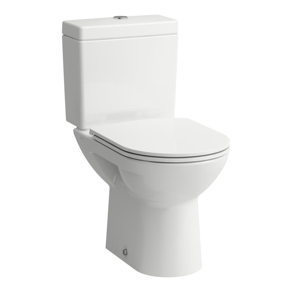 Stand WC Kombination, Tiefspüler, mit Spülrand, Abgang waagerecht ...